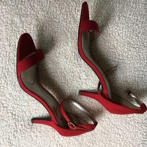 Bandolino Red Sandal Heel Pump, NIB, 8.5